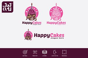 Happy Cakes Logo
