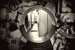 Inside of the Old Submarine