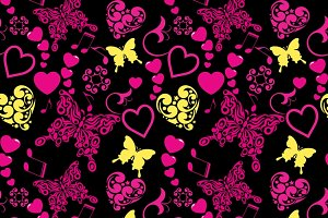 Wallpaper Pattern Butterfly Love
