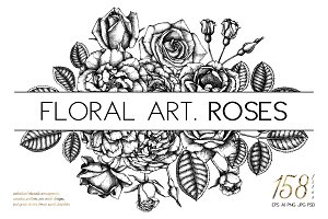 Hand Drawn Roses Collection