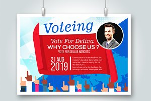 Cast A Vote Psd Flyer Template