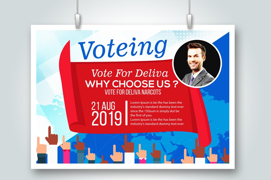 Cast A Vote Psd Flyer Template