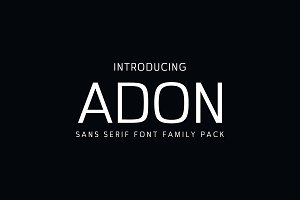 Adon Sans Serif Fonts Family Pack