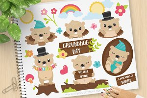 GroundHog Day Clipart + SVG