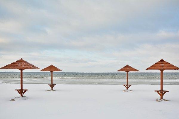 Stock Photos: Pro.Motion - Winter lake landscape view