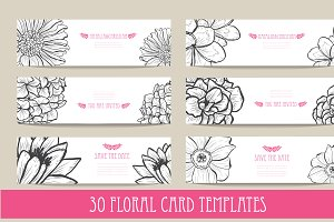 30 Floral Card Templates