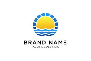 Sun Sea Logo Template