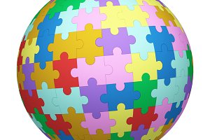 Colorful jigsaw puzzle pattern textu