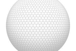 Golf ball. White hexagon shape patte