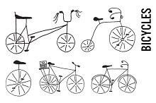 Doodle Bicycle Clip Art