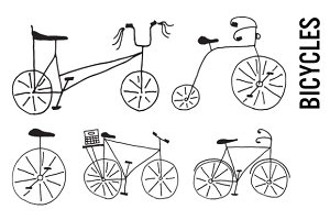 Doodle Bicycle Clip Art
