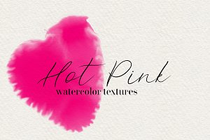 Hot Pink watercolor Textures
