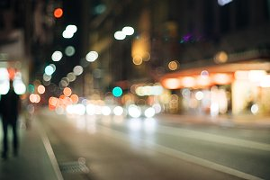 City of Sydney Street Bokeh Blur