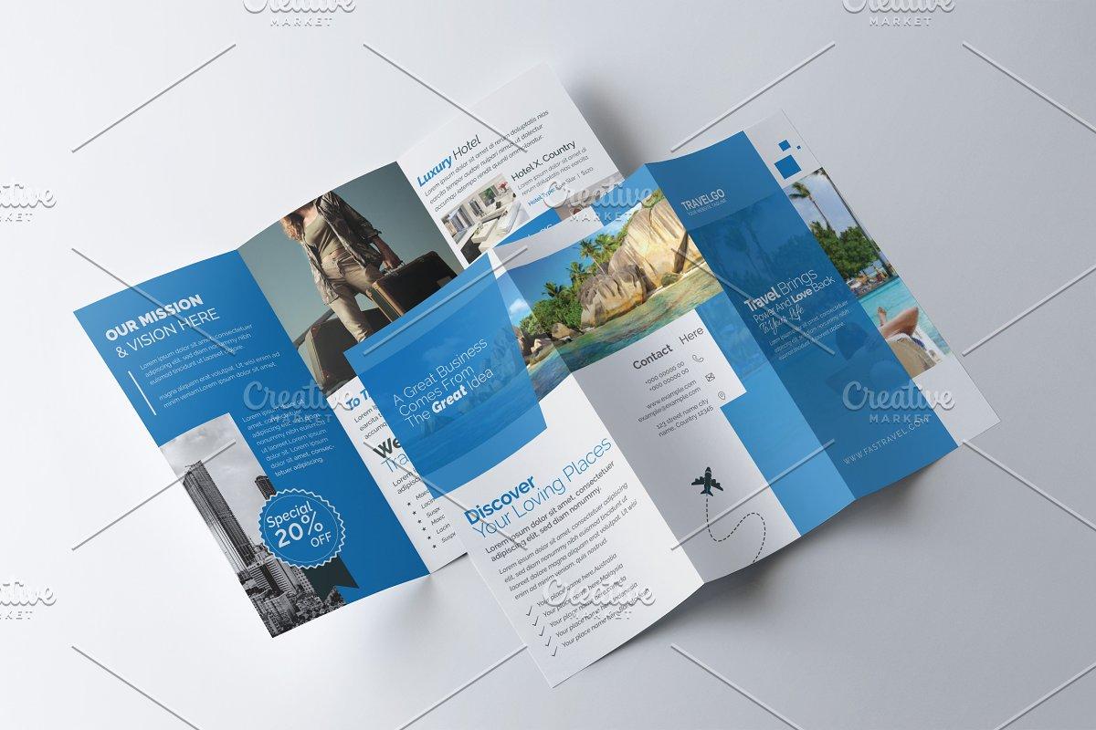 Travel & Hotel Booking Brochure ~ Brochure Templates
