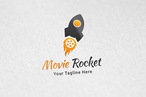 Movie Rocket - Logo Template