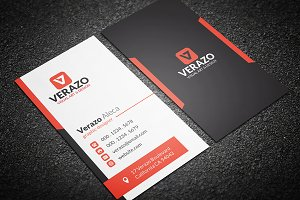 Orange Vertical Business Card