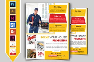Handyman & Plumber Service Flyer V-1