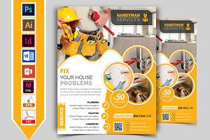 Handyman & Plumber Service Flyer V-2