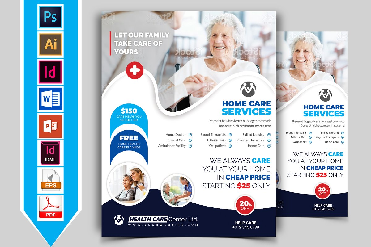 Home Care Flyer Template Vol 01 Flyer Templates Creative
