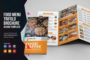 Food Menu Trifold Brochure v2