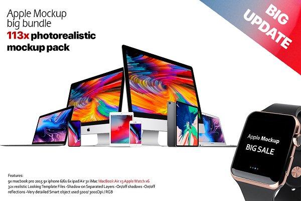 Apple mockup all big bundle 2019 PSD Mockup - Mockups Free and