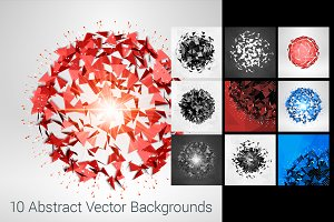 10 Abstract Explosion Backgrounds