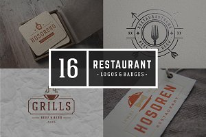 16 Restaurant Logotypes and Badges