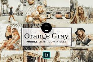 Mobile Lightroom Preset Orange Gray