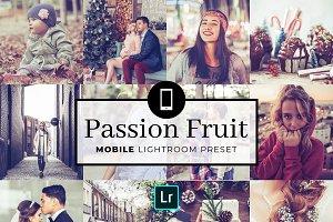 Mobile Lightroom Preset PassionFruit