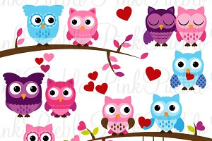Valentine's Day Owl Clipart & Vector