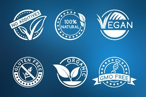 Natural organic badges