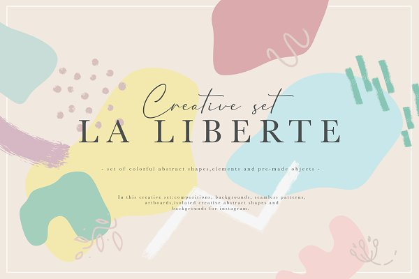 Illustrations: NassyArt - La Liberte Creative Set