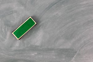 Eraser on Green Chalkboard