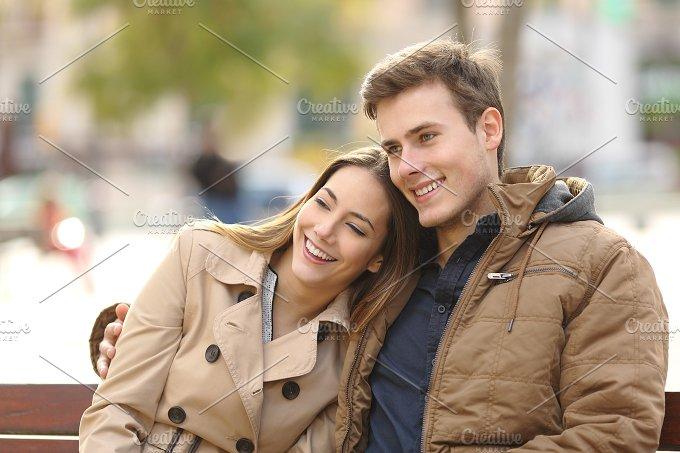 Couple in love hugging in an urban park.jpg - People