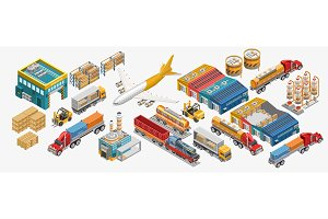 Set of freight transport and
