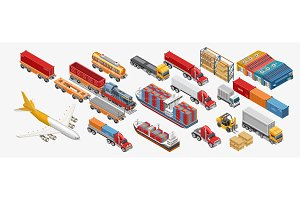 Various freight transport and