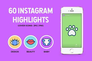 60 Instagram Stories Highlights Icon