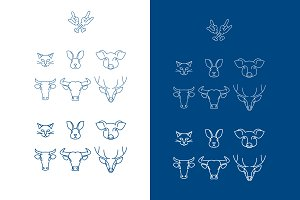 logo vector characters animals