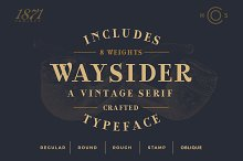 Waysider - A Vintage Serif by  in Serif Fonts