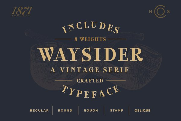 Fonts: Hustle Supply Co. - Waysider - A Vintage Serif