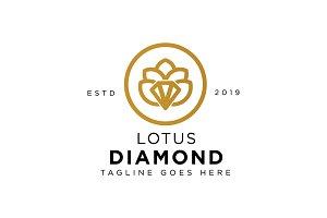 Diamond Lotus Logo Template