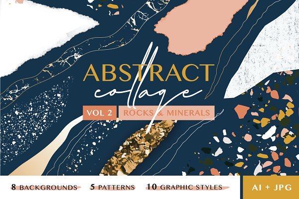 Graphic Patterns: Anugraha Design - Abstract Collage Patterns II (Rock)