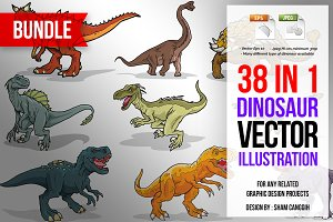 Dinosaur Color Vector Bundle