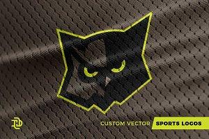 Owl   Custom Sports Logo
