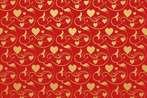 Love hearts. Modern wallpaper