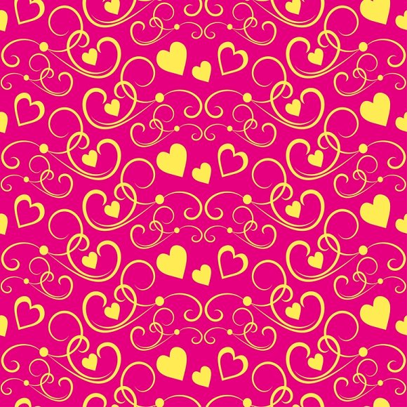 Love hearts. Modern wallpaper - Patterns