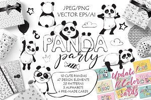 Panda Party cute set