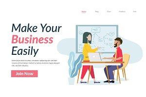 Business Office Illustration