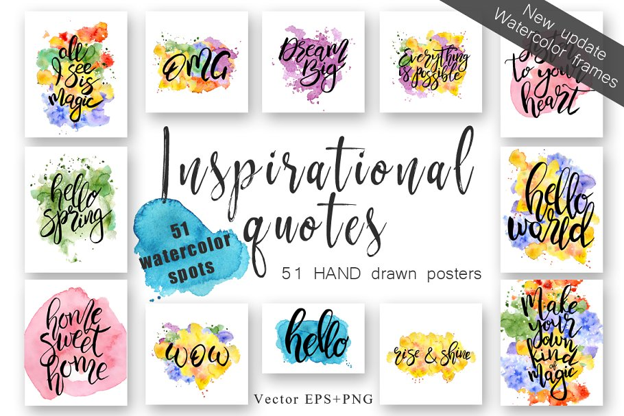 Inspirational Quotes Vector Diy Illustrations Creative Market