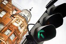 Traffic Lights in London city